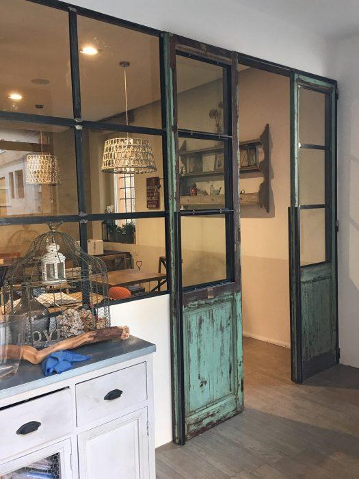 """Restauro porte vecchie in legno ristorante """"Le Nuvole di Ferrara""""   MENEGATTI LAB"""