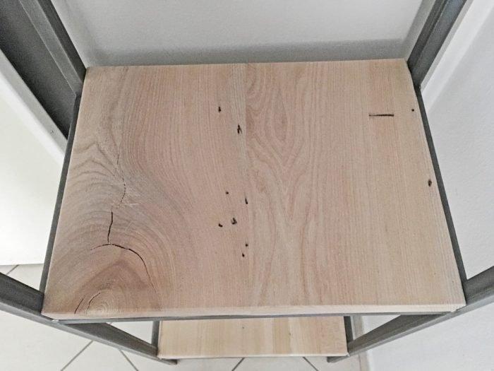 Libreria in legno di olmo e ferro crudo - Menegatti Lab