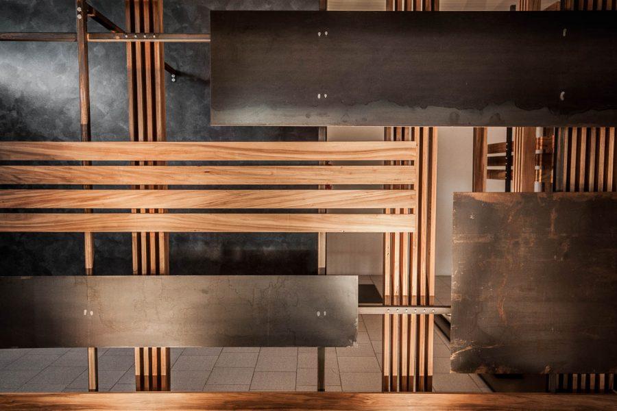 parete divisoria in legno e ferro   Menegatti LAB